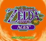The Legend of Zelda: Oracle of Ages Game Boy Color Title Screen