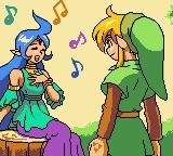 The Legend of Zelda: Oracle of Ages Game Boy Color Naryu and Link