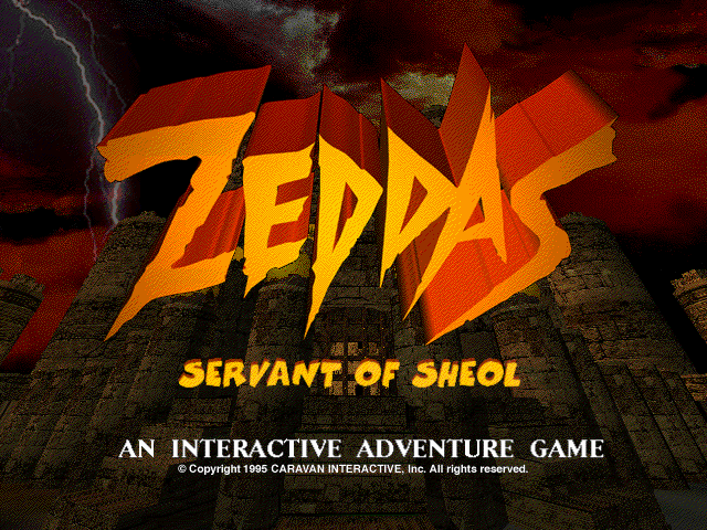 Zeddas: Servant of Sheol Windows 3.x Title screen