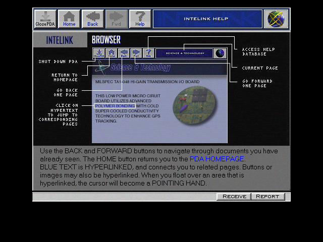 Spycraft: The Great Game DOS Intelink help