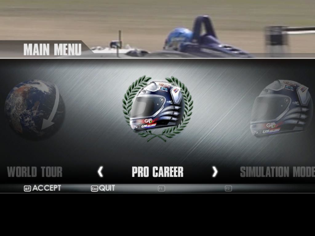 TOCA Race Driver 3 Windows Main menu