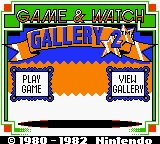 Game & Watch Gallery 2 Game Boy Color Title Screen