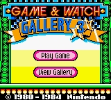 Game & Watch Gallery 3 Game Boy Color Title Screen