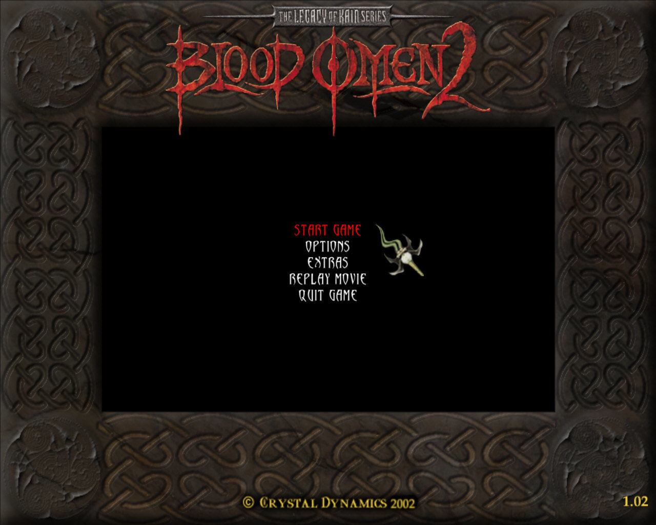 The Legacy of Kain Series: Blood Omen 2 Windows Main menu