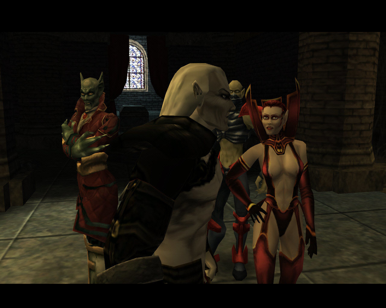 The Legacy of Kain Series: Blood Omen 2 Windows Kain fails to notice the subtle nipple slips from her fellow vampire.