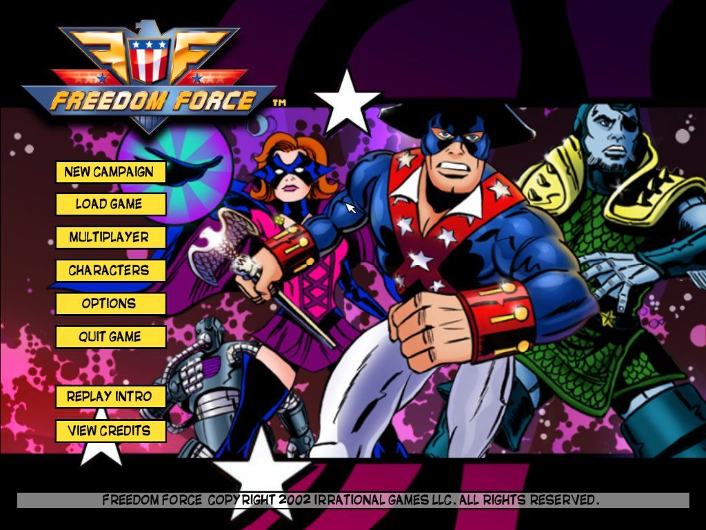 Freedom Force Windows Title screen
