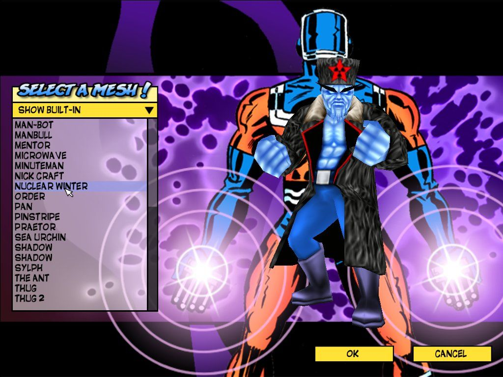 Freedom Force Windows Character viewer