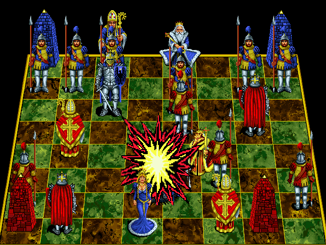 Battle Chess: Enhanced CD-ROM DOS King takes knight.
