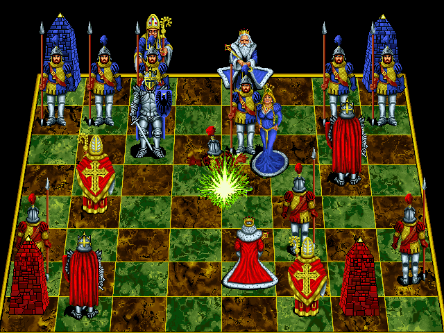 Battle Chess: Enhanced CD-ROM DOS Queen takes pawn.