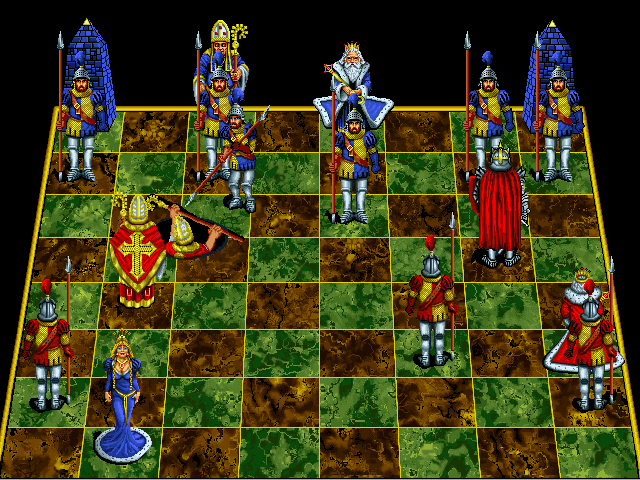 Battle Chess: Enhanced CD-ROM DOS Pawn takes bishop.