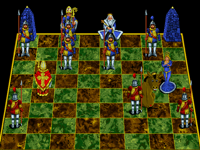 Battle Chess: Enhanced CD-ROM DOS Queen takes king.