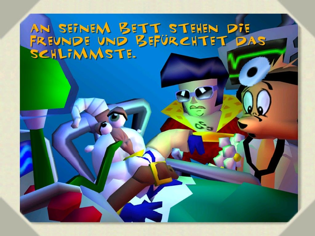Earthworm Jim 3D Windows After an accident with a cow Jim is in the hospital.