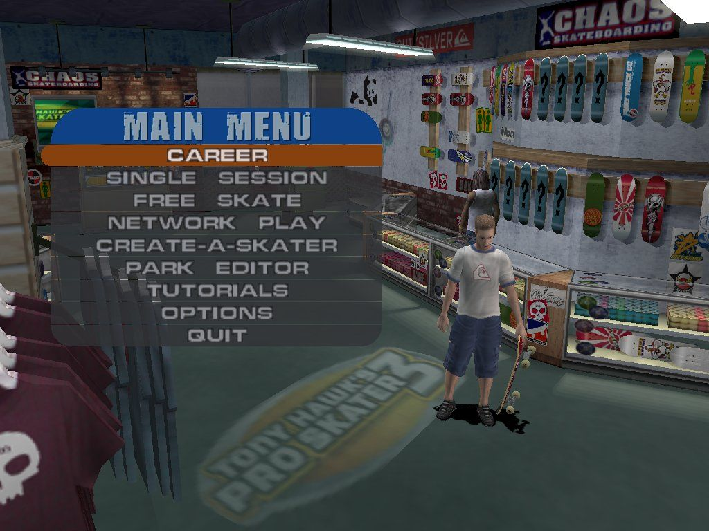 Tony Hawk's Pro Skater 3 Windows The skate shop