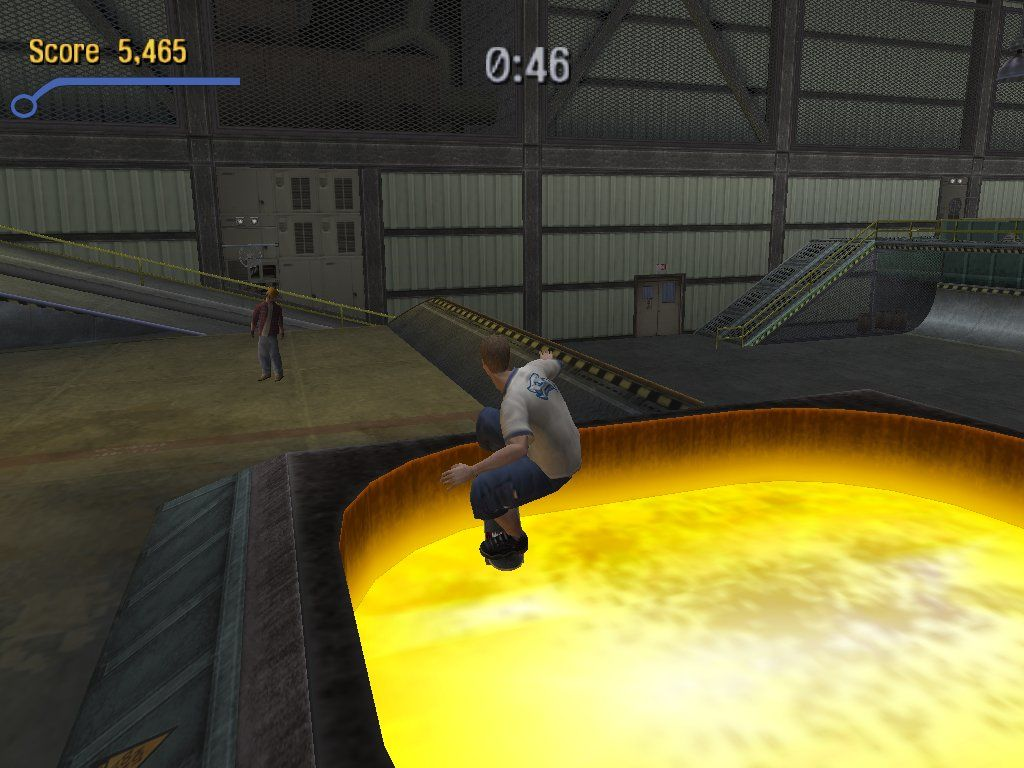 Tony Hawk's Pro Skater 3 Windows Tony takes a hot bath