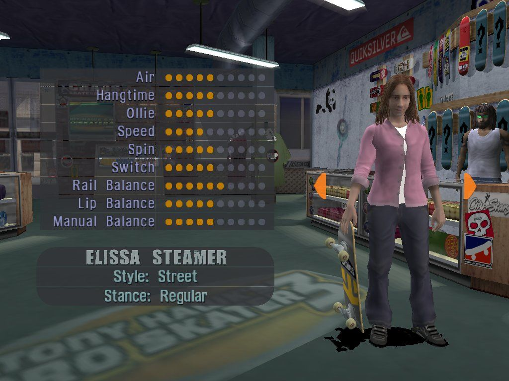 Tony Hawk's Pro Skater 3 Windows The only skating girl in the game