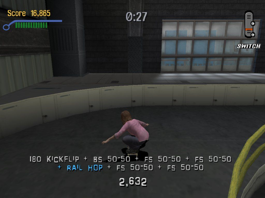 Tony Hawk's Pro Skater 3 Windows A long row of tricks