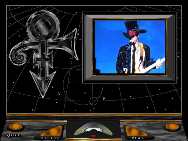 "Prince Interactive Windows 3.x Introduction, with Prince playing ""Interactive"""