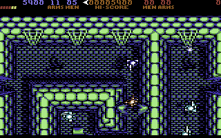 Fernandez Must Die Commodore 64 Environments feature many destructible objects