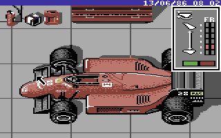 Ferrari Formula One Commodore 64 Tuning the car for the next race