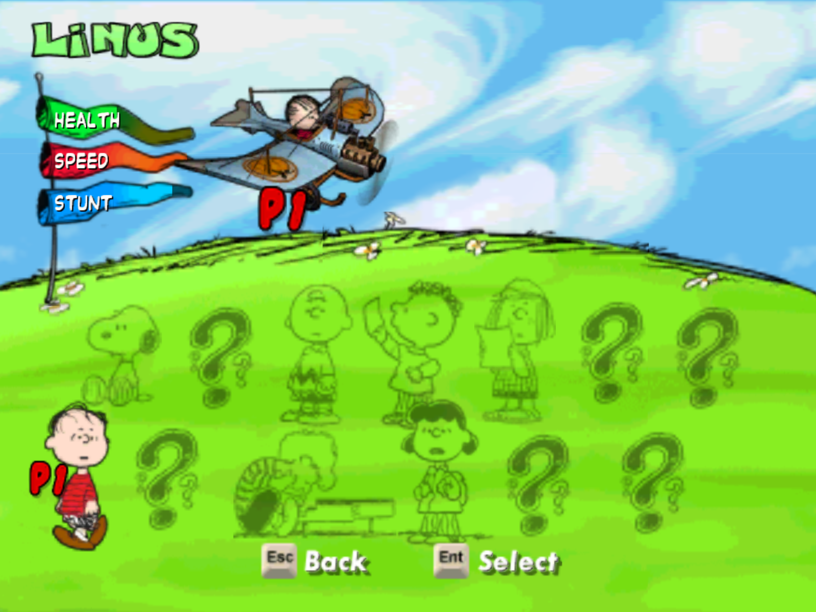 Snoopy vs. the Red Baron Windows Character / Plane select