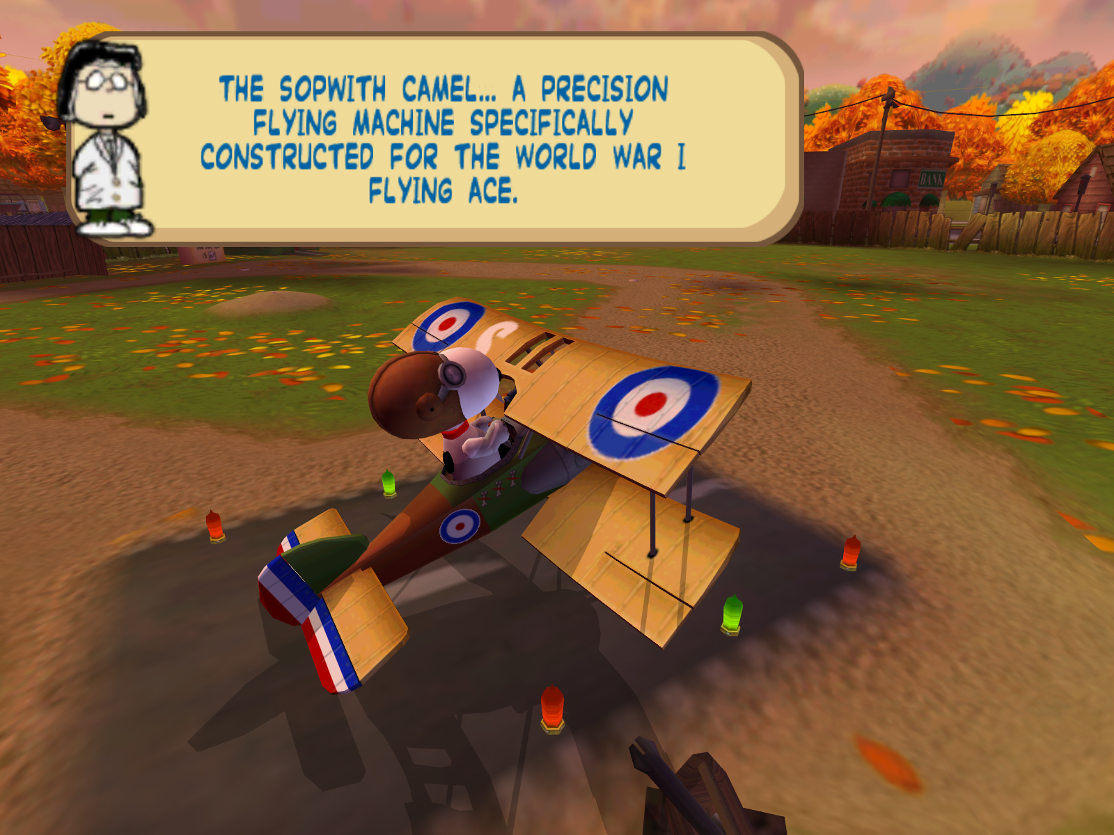 Snoopy vs. the Red Baron Windows You can purchase better and better planes as you collect bonuses and coins.