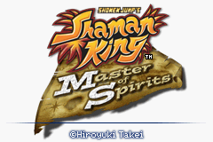 Shaman King: Master of Spirits Game Boy Advance Title Screen
