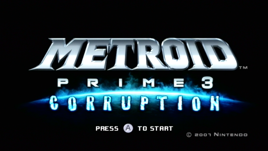 Metroid Prime 3: Corruption Wii Title screen