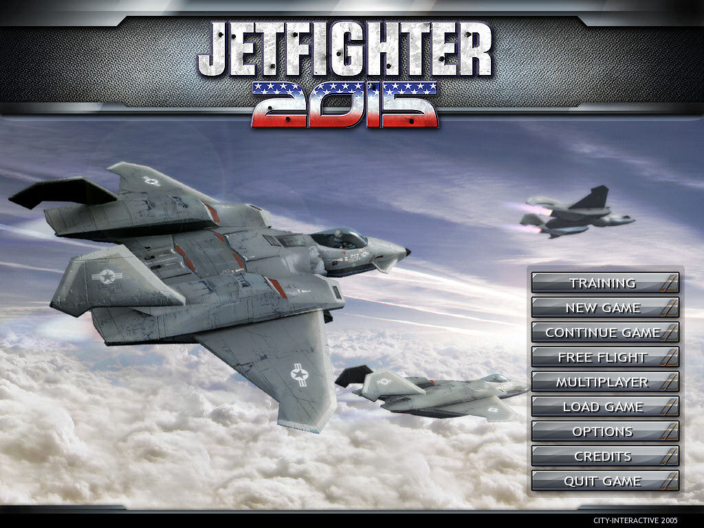 JetFighter 2015 Windows the game's main screen