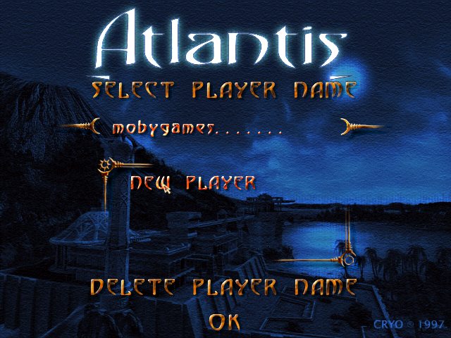 Atlantis: The Lost Tales DOS Game profile screen
