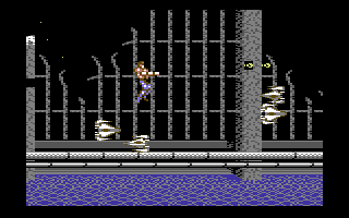 Forgotten Worlds Commodore 64 Small fast ships are attacking
