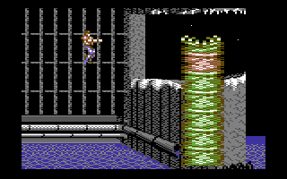 Forgotten Worlds Commodore 64 Giant worms attack from bellow