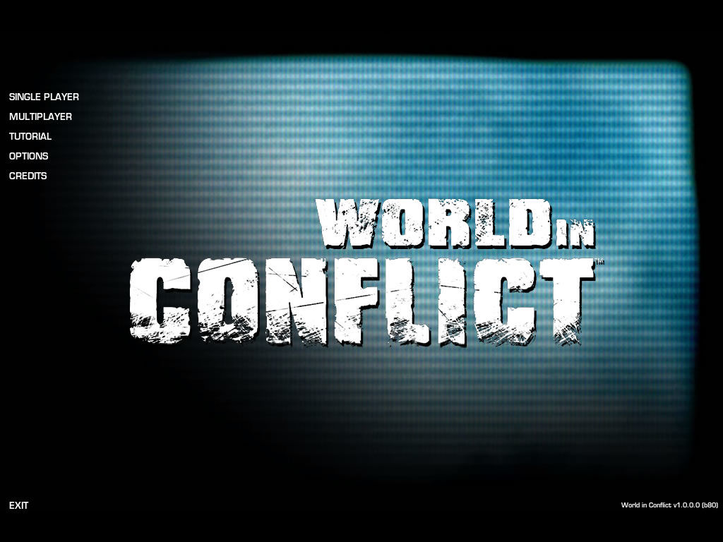World in Conflict Windows Title screen