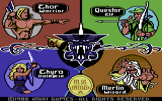 Gauntlet: The Deeper Dungeons Commodore 64 Select your character