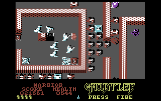 Gauntlet: The Deeper Dungeons Commodore 64 Almost reached the exit...