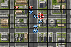 Zone of the Enders: The Fist of Mars Game Boy Advance Battle in a city