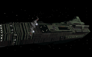 Wing Commander: Armada DOS The ship taking off from the introduction.