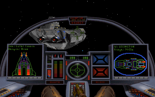 Wing Commander: Armada DOS The mother ship requires communication in order to land on it.
