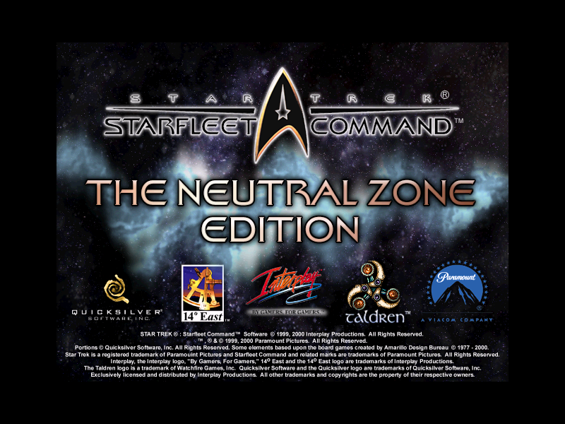 Star Trek: Starfleet Command - Neutral Zone Windows Title screen.