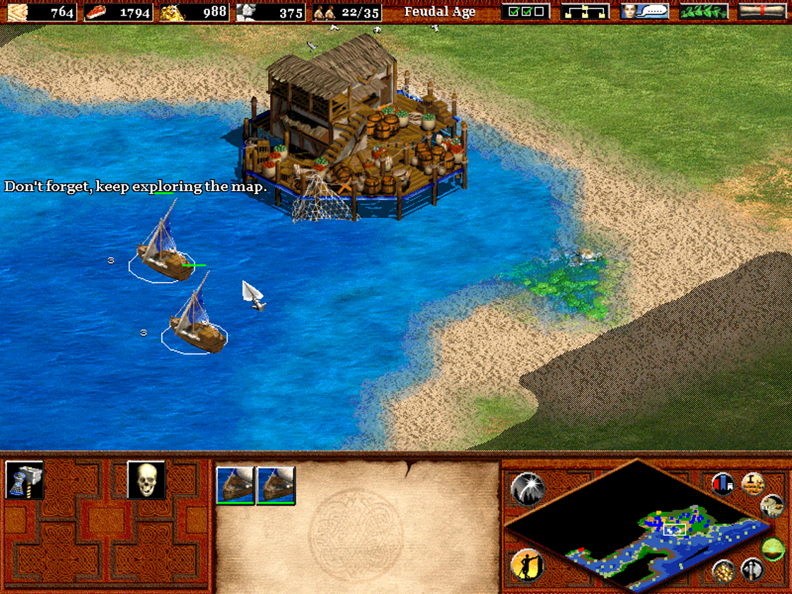 Age of Empires II: The Age of Kings Windows A fishing port