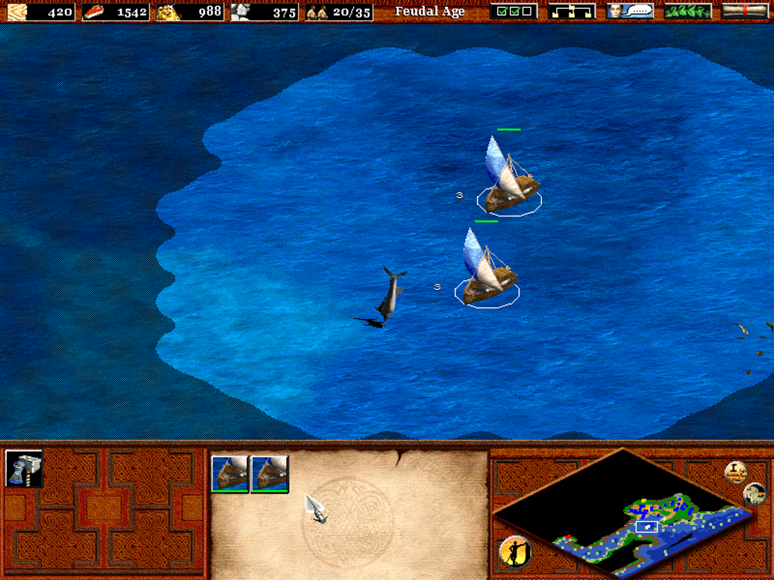 Age of Empires II: The Age of Kings Windows Open sea