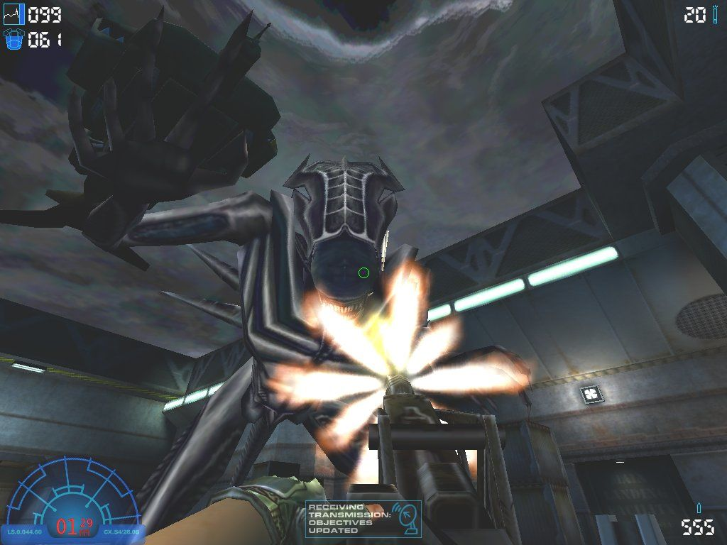 Aliens Versus Predator 2 Windows A nasty, bullet-proof Praetorian drops down to give you a hug