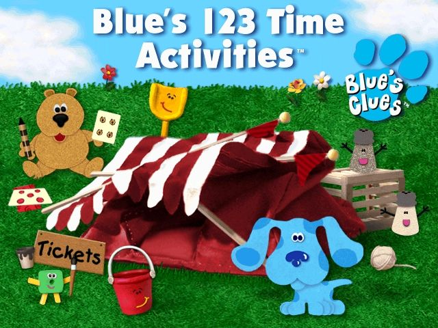 Blue's 123 Time Activities Windows Blue's 123 Time title screen