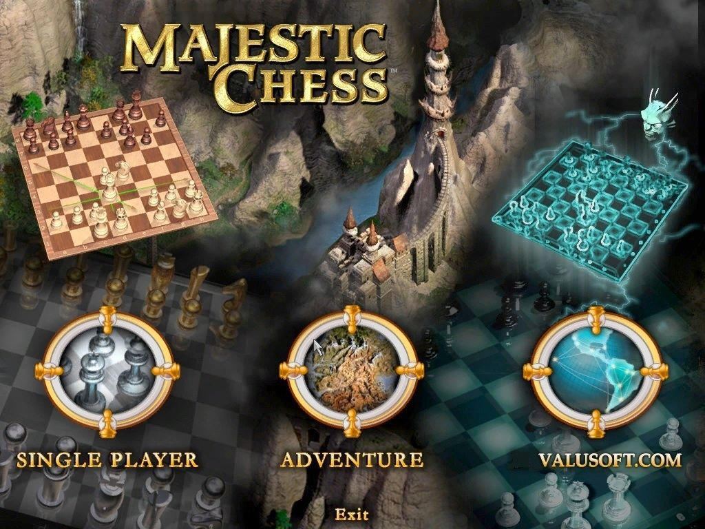 Hoyle Majestic Chess Windows Title Screen