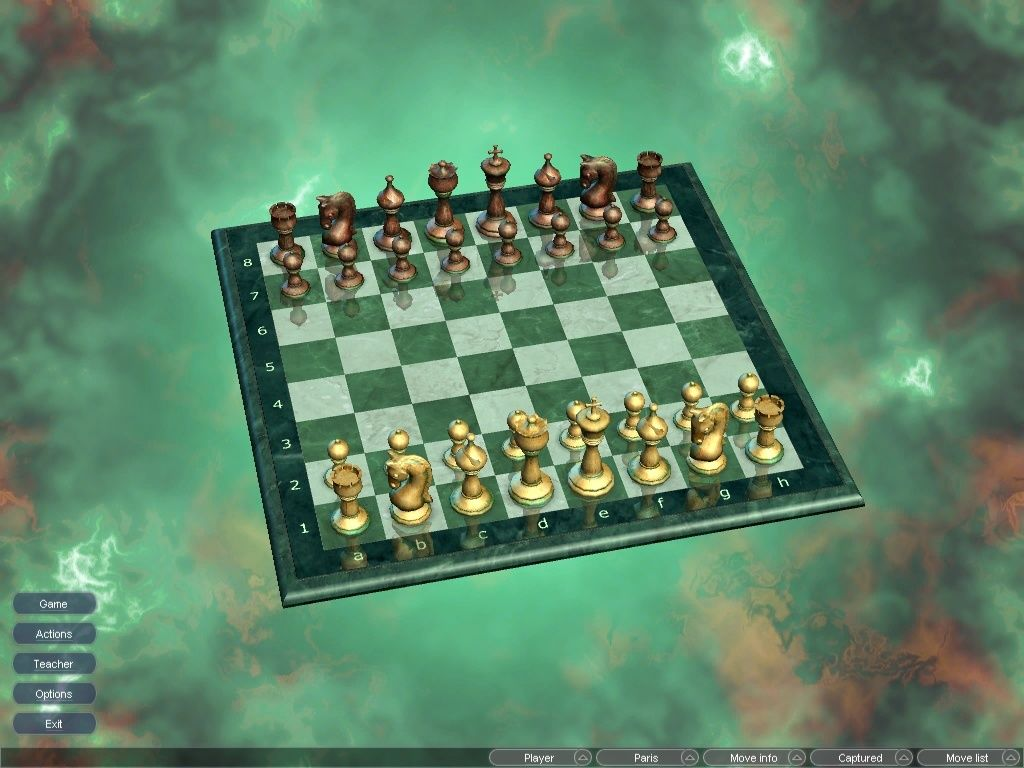 Hoyle Majestic Chess Windows Single Player 3D game board