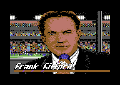 ABC Monday Night Football Commodore 64 Your host for tonight, Frank Gifford