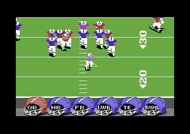 ABC Monday Night Football Commodore 64 The purple guy has the ball
