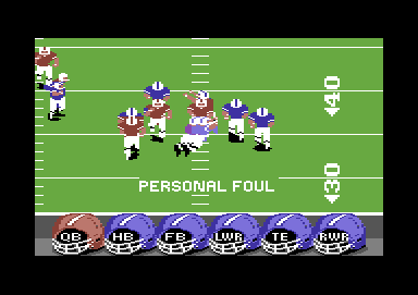 ABC Monday Night Football Commodore 64 Foul