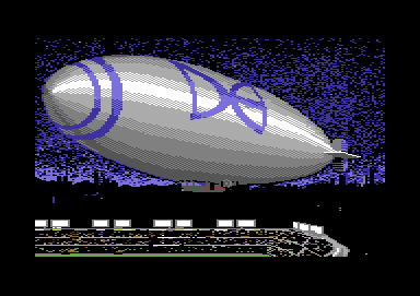 ABC Monday Night Football Commodore 64 The Data East blimp flies over the stadium