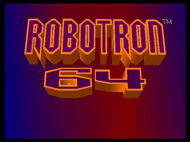 Robotron 64 Nintendo 64 TItle screen