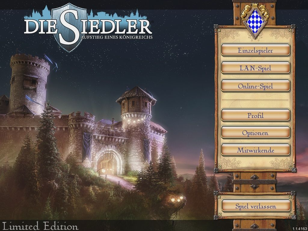 The Settlers: Rise of an Empire (Limited Edition) Windows Main Menu